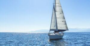 Sailboat on the open sea
